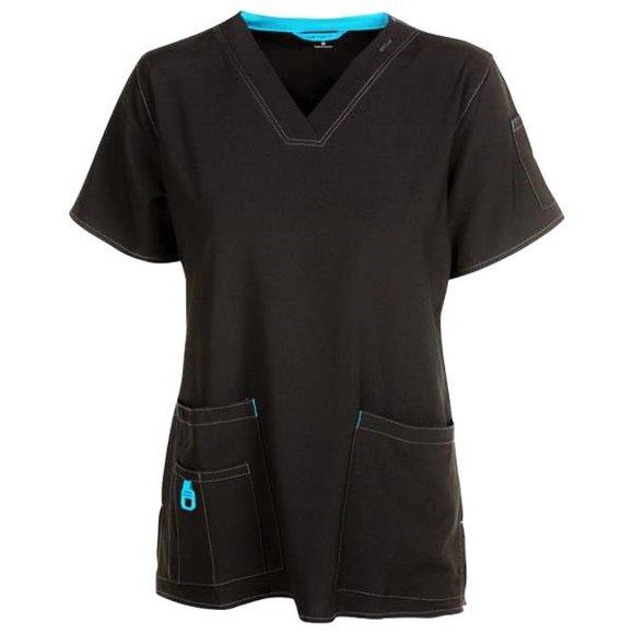 Carhartt • Scrubs Set ~ Black w/ Blue Trim  🖤💙